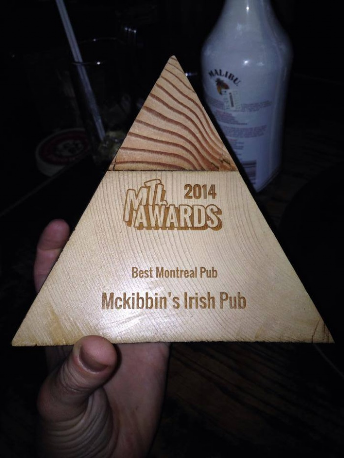 Guess who just won Best Montreal Pub at the MTL Awards? Thanks to MTLBlog!