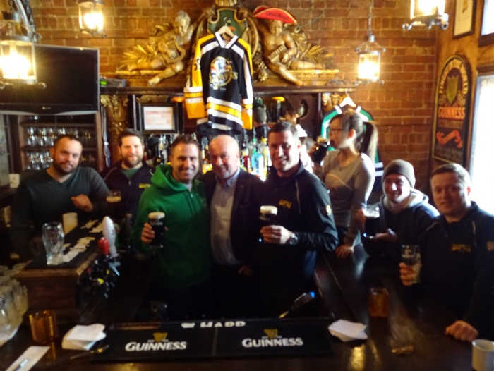 Guinness Global Quality and Program Director, Billy Powers visiting Mckibbin's and meeting with management and staff!